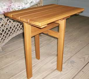 Handymanwire building a folding table for Folding table woodworking plans
